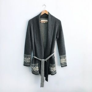 Community Wool Belted Cardigan - size Small